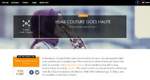 High fashion hijabs